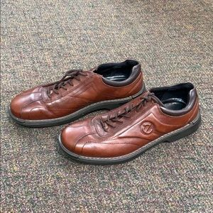 Ecco Brown Leather Causal  Shoes